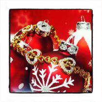 Prong Diamond Heart Bracelet 44314 Women Specials