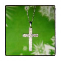 Prong Diamond Cross Necklace 44309 Diamond