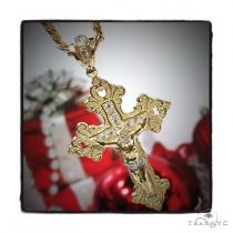 10k Yellow Gold Cross Cuban Chain 44300 Men Holiday Specials