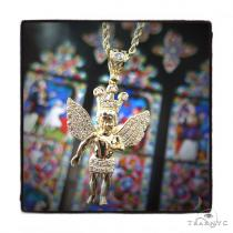 10k Yellow Gold Crown Angel Rope Chain 44249 Gold
