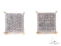Prong Diamond Square Earrings 44410 Stone