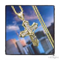 10k Yellow Gold Cross Chain Set 44416 Men Specials