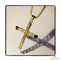 10k Yellow Gold Cross Franco Chain Set 44420 Gold