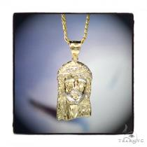 10k Yellow Gold Jesus Chain Set 44477 Style