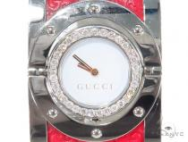 Pave Diamond Gucci 112 Twirl Bangle Ladies Watch YA112435 44146 Gucci