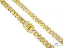 Prong Miami Cuban Diamond Chain 30 Inches 12mm 281.4 Grams 44521 Diamond