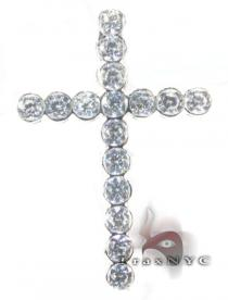 Iced Bezel Cross Diamond Cross Pendants