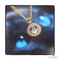 'G' Gold Pendant Chain Set 44818 Metal