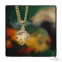 Horse Gold Pendant Chain Set 44816 Metal