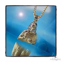 Jesus Gold  Pendant and Rope Chain Set 44821 Style