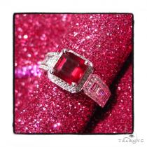 Prong Diamond Ruby Gemstone Ring 44839 TraxNYC Gift Guide