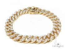 Maimi Cuban Diamond Bracelet 44775 Gold
