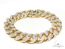 Maimi Cuban Diamond Bracelet 44776 Gold
