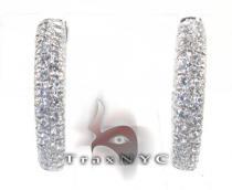 Ladies Loop-Around Earrings レディース ダイヤモンドイヤリング