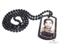 Black Diamond  Custom Photo Frame Moon Cut Chain 44900 ブラック ダイヤモンド チェーン