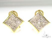 Insivible Diamond Earrings 45058 Stone