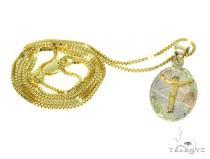 Jesus Gold Pendant Chain Set 45298 Metal