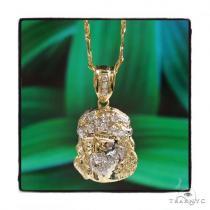 Jesus Gold Pendant Chain Set 45305 Style
