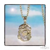Jesus Gold Pedant Chain Set 45307 Metal