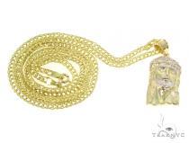 Jesus Gold Pendant Chain Set 45310 Style