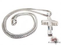 Junior Cross Silver Chain Set 45321 Diamond