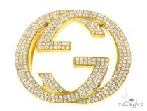 Gucci Diamond Belt Buckle 45370 Metal