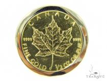 Canadian Leaf Gold Coin Ring 45401 Metal