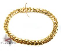 Miami Cuban Link Bracelet 7.5 Inches 3mm 16.2 Grams 45407 Gold