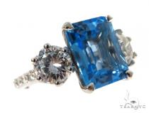 Blue Topaz Statement Ring 45413 Anniversary/Fashion
