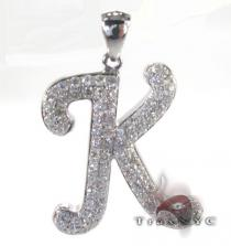 Frozen K Pendant Diamond Pendants