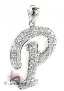 Frozen P Pendant Diamond Pendants