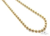 Mens 10k Solid Yellow Gold Ball Chain 24 Inches 1.8mm 5.98 Grams 46853 Gold