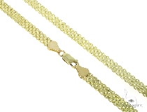 Mens 10k Solid Yellow Gold Bismark Chain 30 Inches 5.7mm 25.57 Grams 46864 Gold