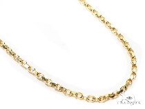 Mens 14k Solid Yellow Gold Cable Chain 26 Inches 3.4mm 25.04 Grams 47004 Gold