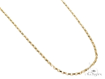 Mens 14k Solid Yellow Gold Cable Chain 20 Inches 0.7mm 1.61 Grams 47026 Gold