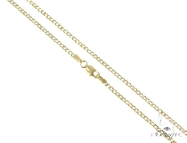 Mens 10k Hollow Yellow Gold Cuban/curb Chain 20 Inches 2.4mm 2.43 Grams 47073 Gold