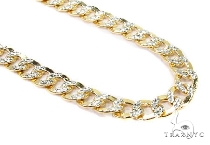 Mens 10k Hollow Yellow Gold Cuban/curb Chain 24 Inches 6.6mm 17.54 Grams 47086 Gold
