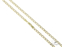 Mens 14k Solid Yellow Gold Cuban/curb Chain 24 Inches 3.3mm 8.83 Grams 47101 Gold