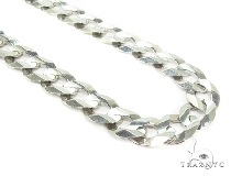 Mens 14k Solid White Gold Cuban/curb Chain 22 Inches 9.8mm 48.95 Grams 47167 Gold