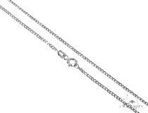 Mens 14k Solid White Gold Cuban/curb Chain 24 Inches 1.7mm 5.53 Grams 47189 Gold
