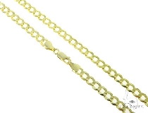 Mens 10k Hollow Yellow Gold Cuban/curb Chain 22 Inches 6.5mm 17.43 Grams 47198 Gold