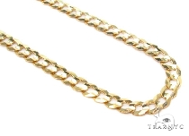 Mens 10k Hollow Yellow Gold Cuban/curb Chain 24 Inches 5.1mm 8.55 Grams 47239 Gold