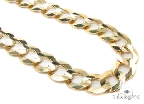 Mens 10k Hollow Yellow Gold Cuban/curb Chain 28 Inches 11.3mm 44.94 Grams 47259 Gold