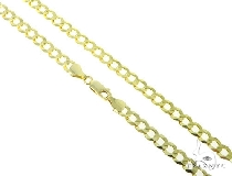 Mens 14k Solid Yellow Gold Cuban/curb Chain 22 Inches 7.2mm 25.43 Grams 47310 ゴールド チェーン