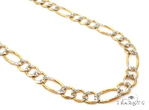 Mens 10k Solid Yellow Gold Figaro Chain 24 Inches 5.5mm 17.52 Grams 47333 Gold
