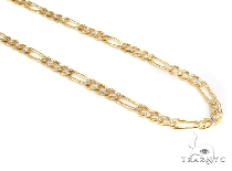 Mens 10k Hollow Yellow Gold Figaro Chain 7.5 Inches 4mm  47338 Gold