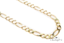 Mens 10k Solid Yellow Gold Figaro Chain 18 Inches 3.5mm 6.70 Grams 47355 Gold