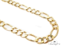 Mens 14k Solid Yellow Gold Figaro Chain 26 Inches 6.6mm 32.20 Grams 47369 Gold