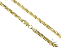 Mens 10k Solid Yellow Gold Foxtail Chain 26 Inches 1.8mm 13.5 Grams 47374 ゴールド チェーン