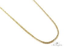 Mens 10k Solid Yellow Gold Franco Chain 24 Inches 1.3mm 5.47 Grams 47424 Gold